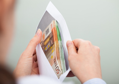 Umschlag mit Bargeld
